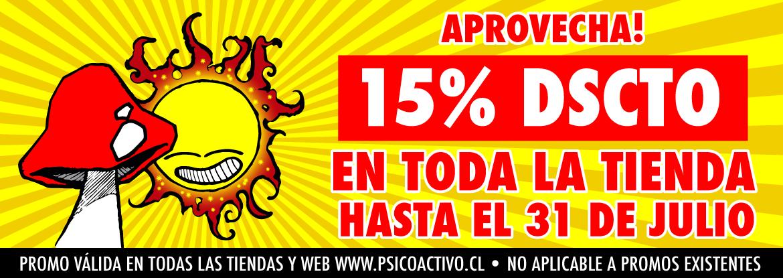 Promo 15% Dscto en Toda la Tienda