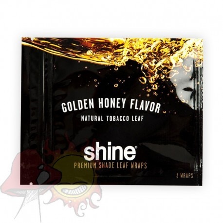 Envolturas de Tabaco Shine Leaf Wrap - Golden Honey x3